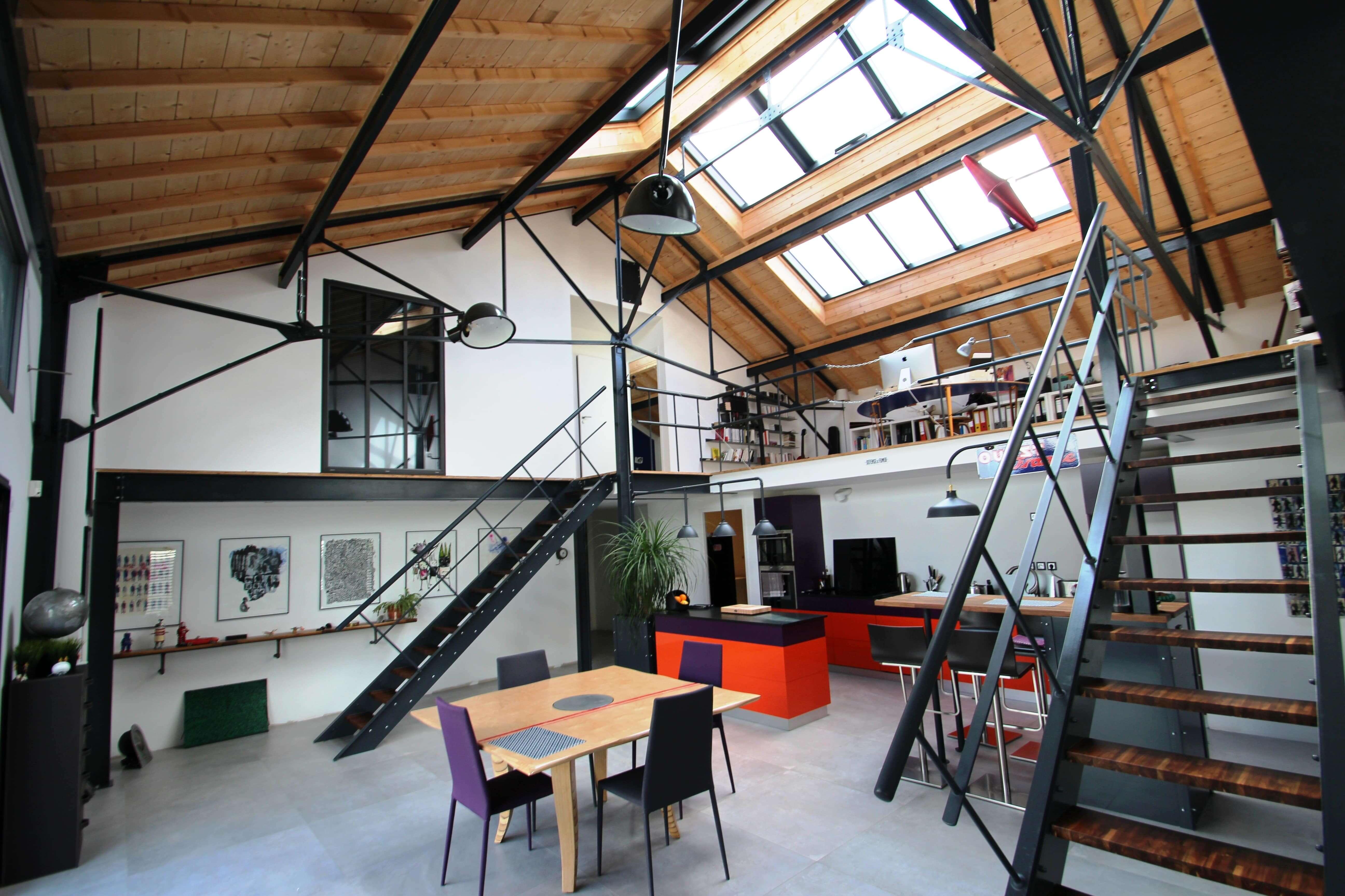 interieur-loft-industriel-dbconcept-aigrefeuille-sur-maine-metal-bois